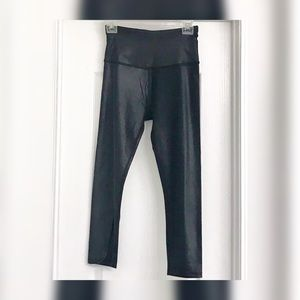 Rhonda Yoga wet-look 3/4 length leggings